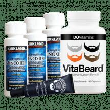 Комплекс для роста бороды Minoxidil Kirkland, гель Beardilizer и витамины VitaBeard на 3 месяца