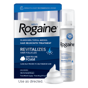 Пена Minoxidil Rogaine 5% для роста бороды