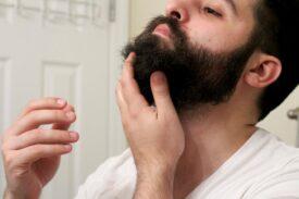 Результат использования спрея для роста бороды
